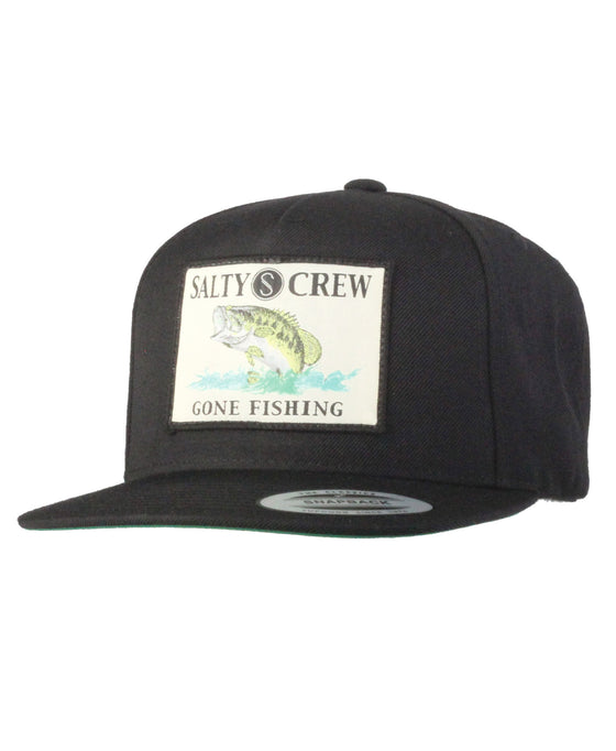 -Apparel Accessories-Salty Crew Mens Big Mouth Patched Hat - Black-Salty Crew-Seaside Surf Shop