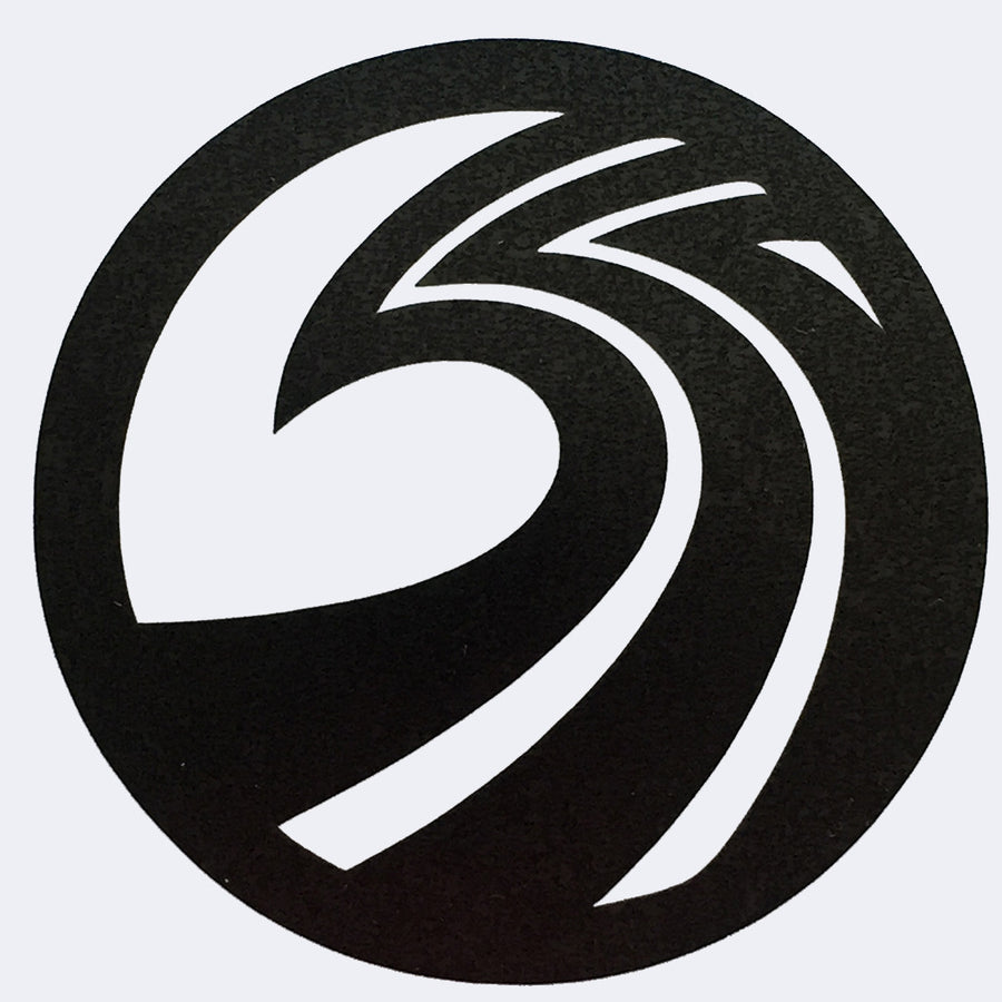 "Seaside Surf Shop - New Wave Logo Die Cut - 4.25"" Black, Seaside Surf Accessories, Seaside Surf Shop, Seaside Surf Shop, Our New Wave Logo in striking Black colors. Three S's for Seaside Surf Shop combining to make one universal wave."
