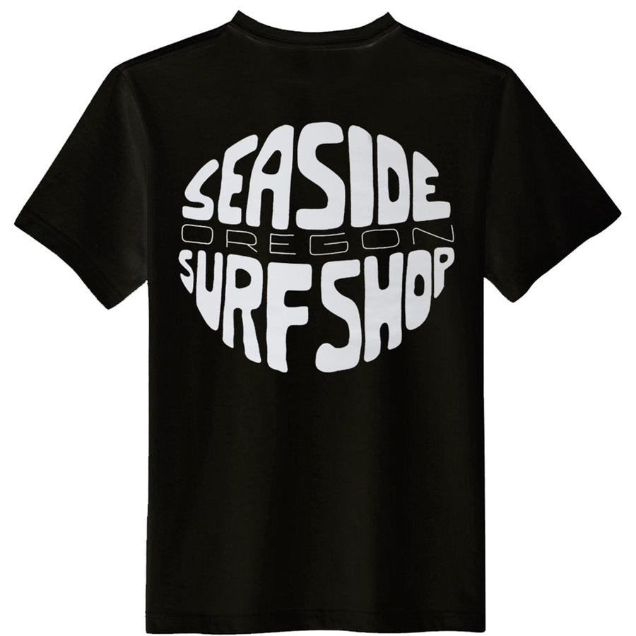 Seaside Surf Shop Mens Gumball Tee - Black, Apparel, Seaside Surf Shop , Mens Tees, Just a groovy tee screened with our latest wave minded viewpoint