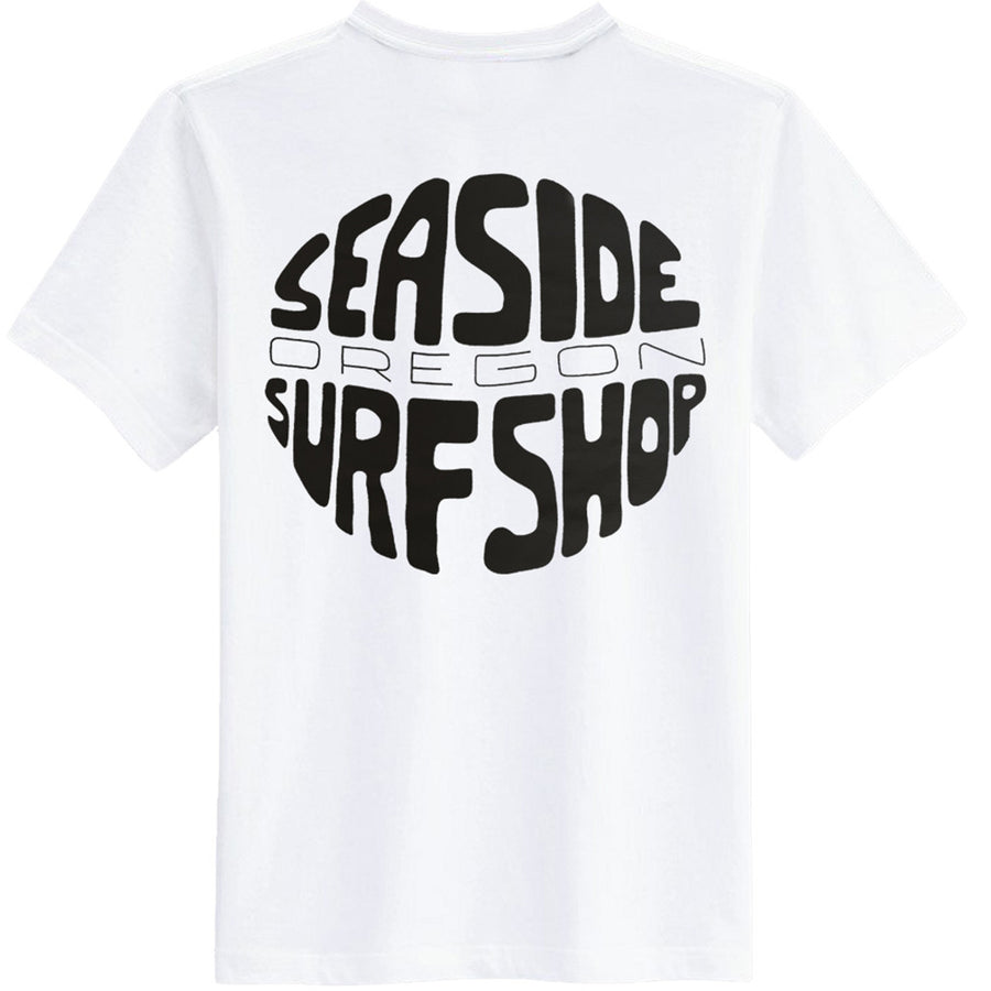 Seaside Surf Shop Mens Gumball Tee - White, Apparel, Seaside Surf Shop, Mens Tees, Just a groovy tee screened with our latest wave minded viewpoint