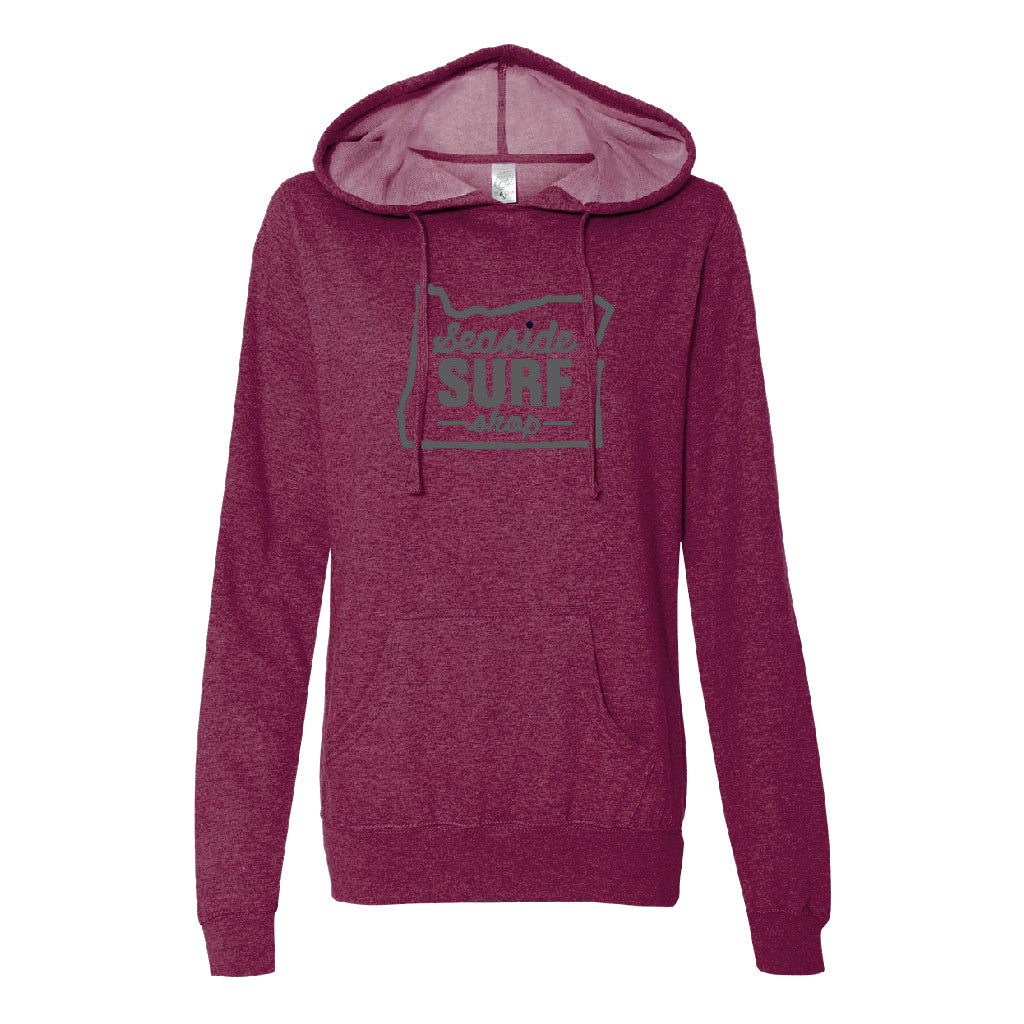 Seaside Surf Shop Womens Oregon Hoody - Blackberry