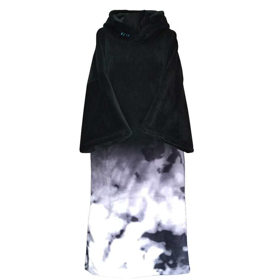 Blocksurf Microfleece Wetsuit Changing Robe - Black Tye Dye