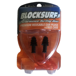 Blocksurf Premium Reusable Surfing Earplugs