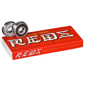 Bones Super Reds Skateboard Bearings 8 Pack-Bones-Seaside Surf Shop