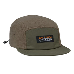 Coal Mens The Bridger Fleece 5 Panel Cap - Olive