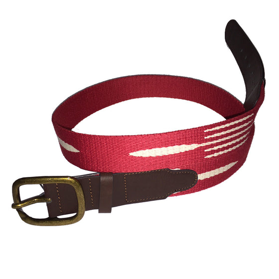 Brixton Mens L/XL Course Belt - Red/White - Seaside Surf Shop   - 2