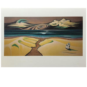 -Artwork-Lori LaBissoniere Folded Postcard Prints- 4x6-Drift Awake-Seaside Surf Shop