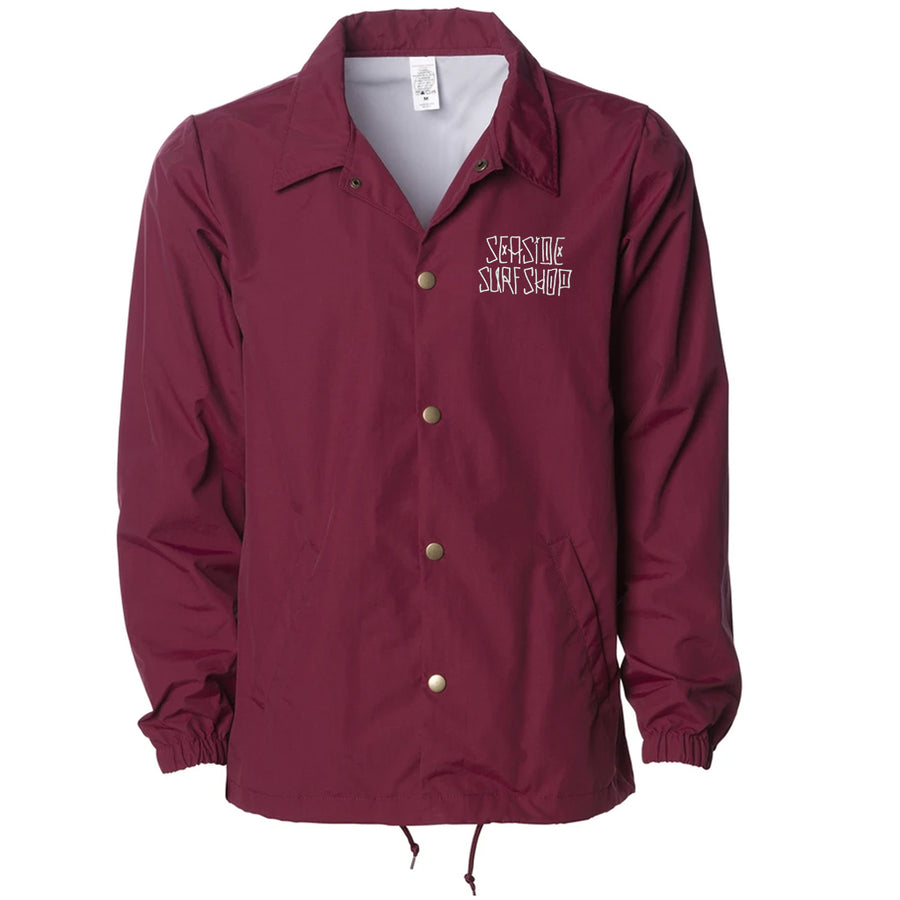 Seaside Surf Shop Mens Dog Days Coaches Jacket - Cardinal