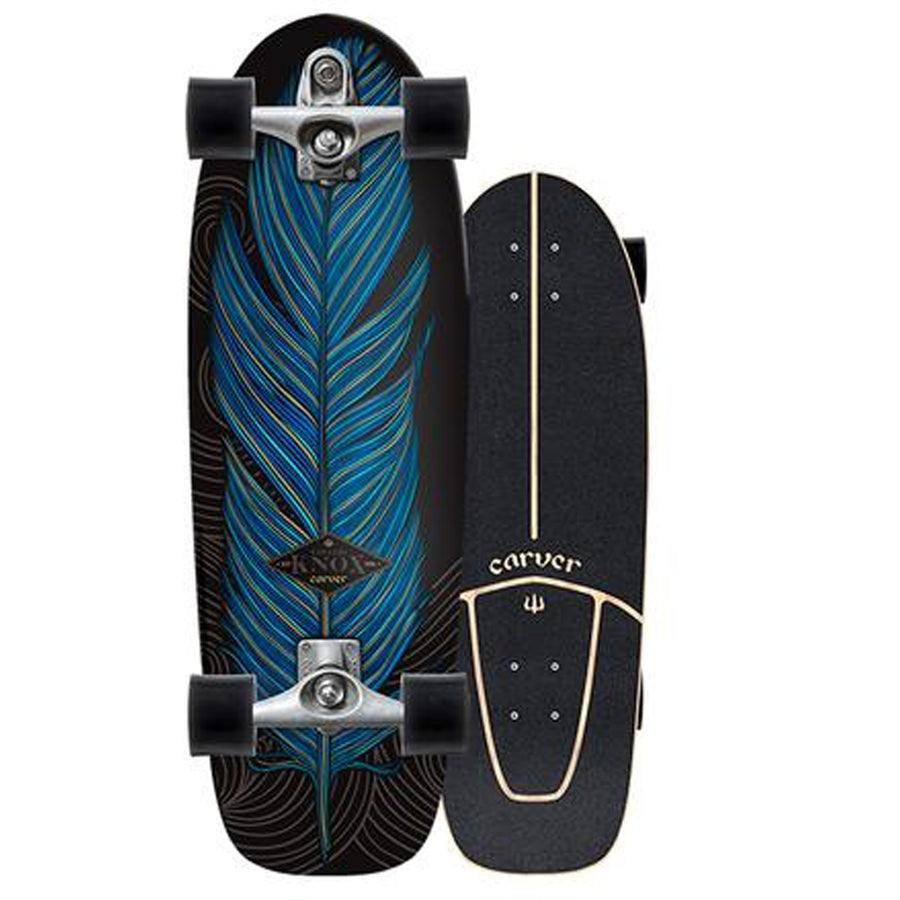 "Carver Skateboards Knox Quill Surfskate C7 Raw Complete - 31.25""-Carver Skateboards-Seaside Surf Shop"