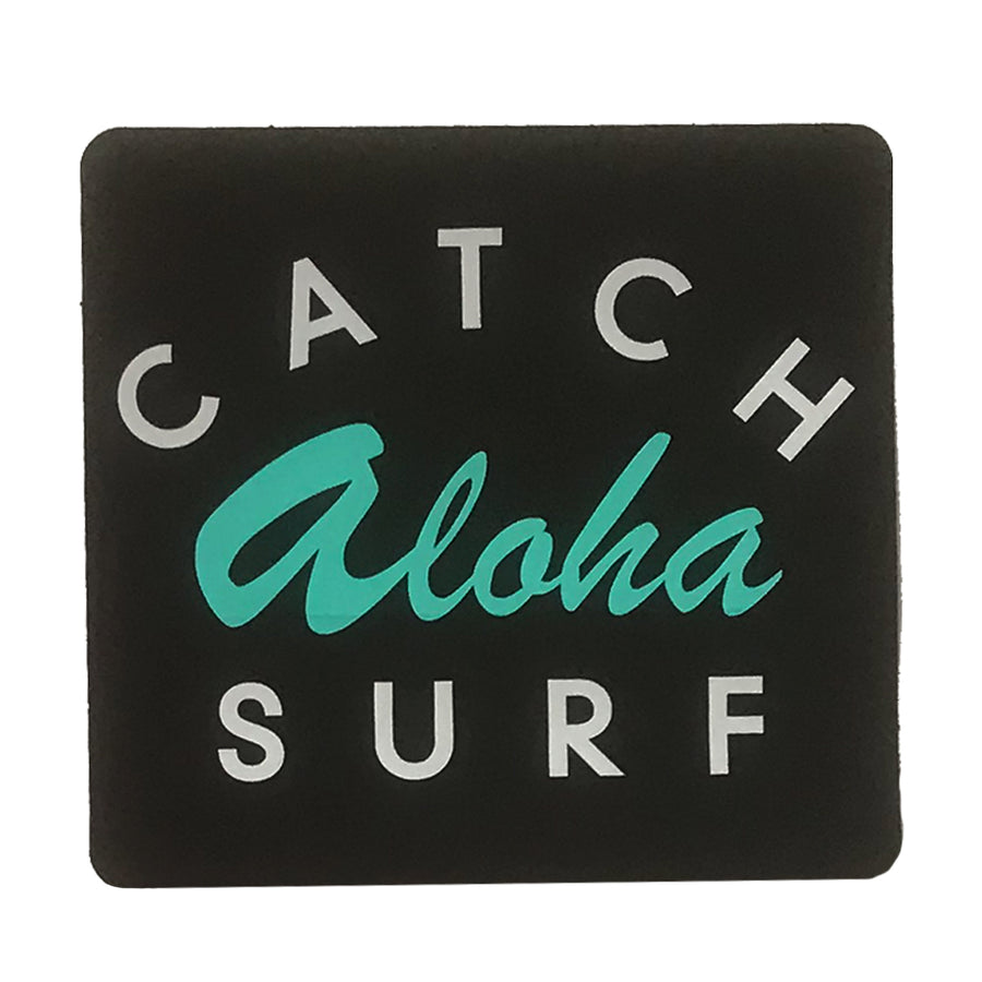 "Catch Surf Aloha Sticker - 4""x4"" Black"