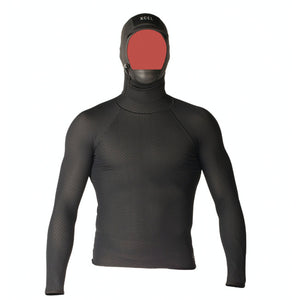 Xcel Celliant Jacquard Shirt with 2mm Hood - Black-Xcel Wetsuits-Seaside Surf Shop