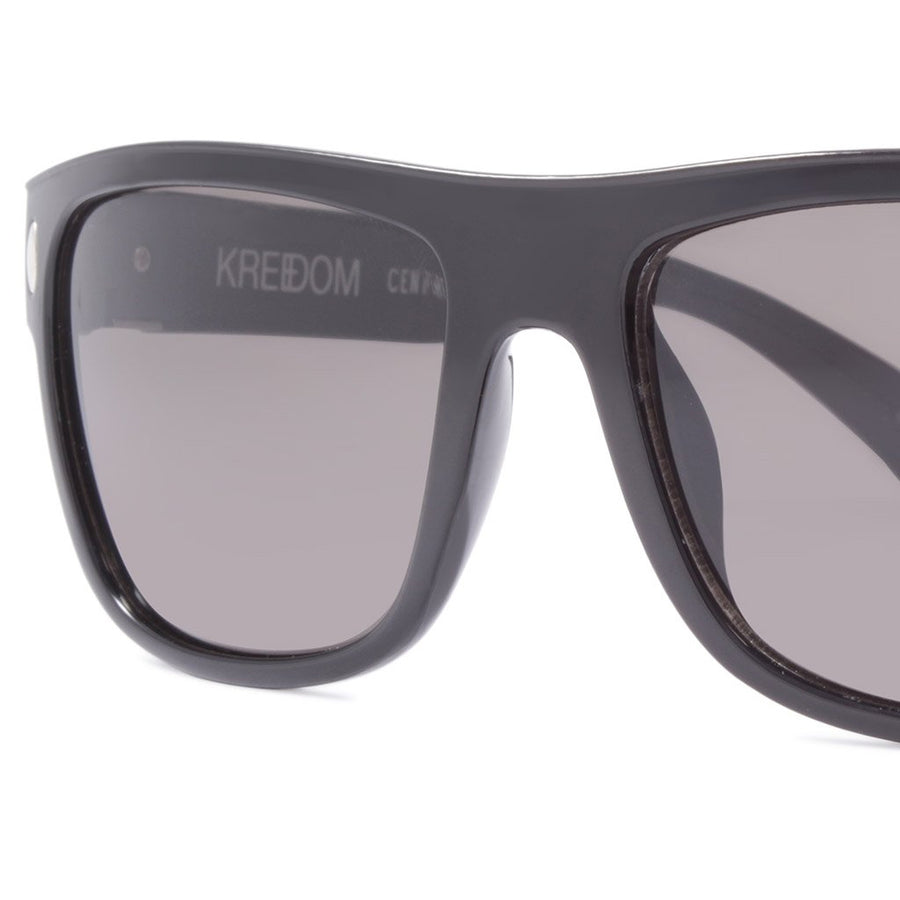 Kreedom Sunglasses Centered Polar - Black/Smoke