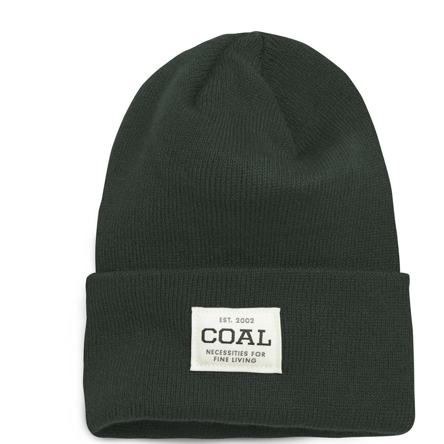 Coal Uniform Knit Cuff Beanie - Dark Green, Apparel Accessories, Coal Headwear, Beanies, A staple for everyday wear' classic cuffed beanie with a slightly tall fit and custom logo patch, inspired by classic workwear. Offered in a rainbow of solid, heathered, and marl colors.Fit: Tall.Material: 100% AcrylicCuffed styling.Fine rib knit.Array of solids, heathers and marl colors.