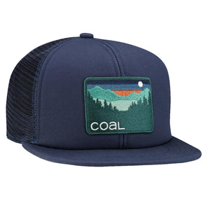Coal Mens The Hauler Cap - Navy, Apparel Accessories, Coal Headwear, Trucker/Mesh Caps, Built from the ground up and utilizing our custom body, the Hauler is like your uncle's classic trucker cap: deep and roomy with a foam backed front panel. Outdoor-inspired logo patch and woven label at adjustable snap back.Material: Cotton and Poly Mesh.Size: OSFM