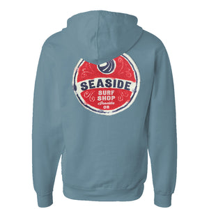 Seaside Surf Shop Unisex Wax Label Pullover - Slate