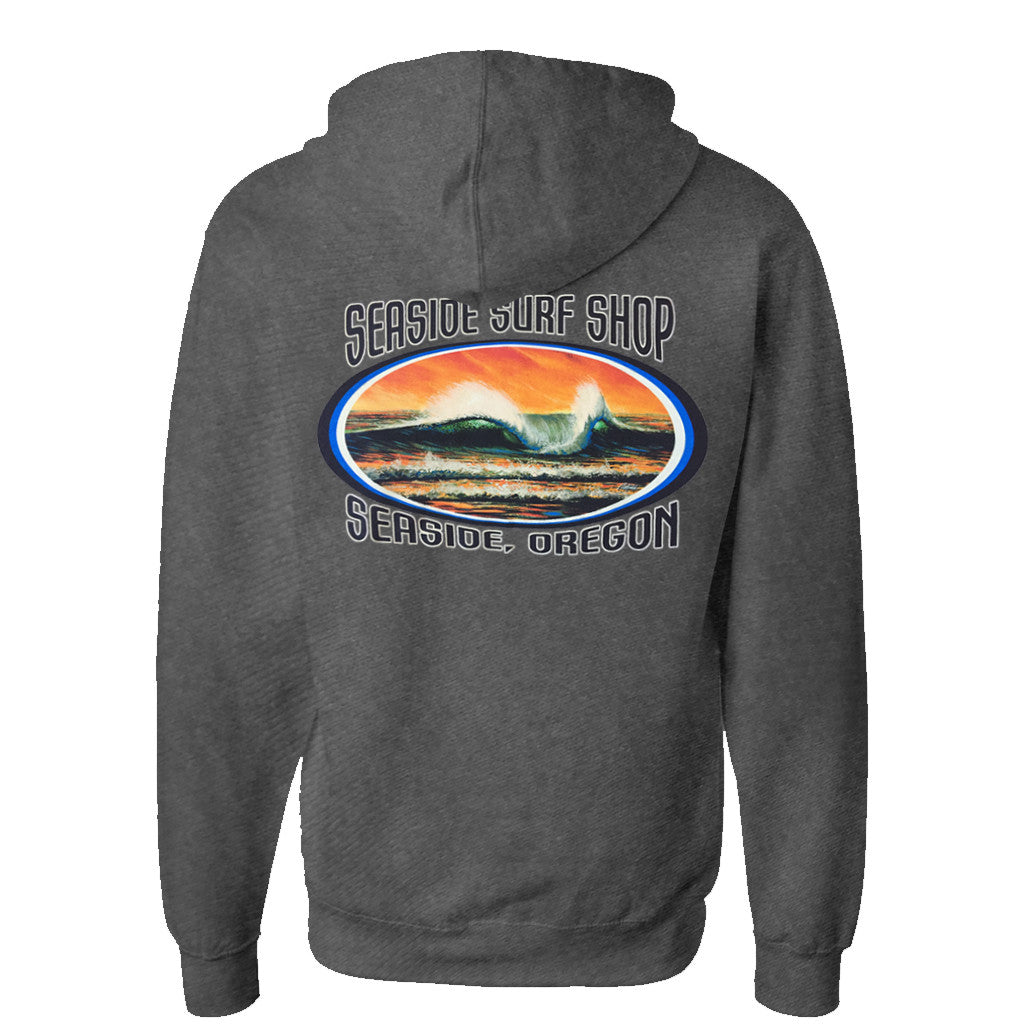 '-Seaside Surf Apparel-Seaside Surf Shop Mens Peak Hoody - Heather Grey-Seaside Surf Shop-Seaside Surf Shop