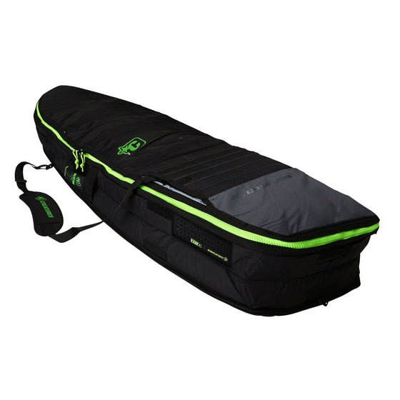 -Surf Accessories-Creatures Fish Double Board Bag - Charcoal/Lime-Creatures of Leisure-Seaside Surf Shop