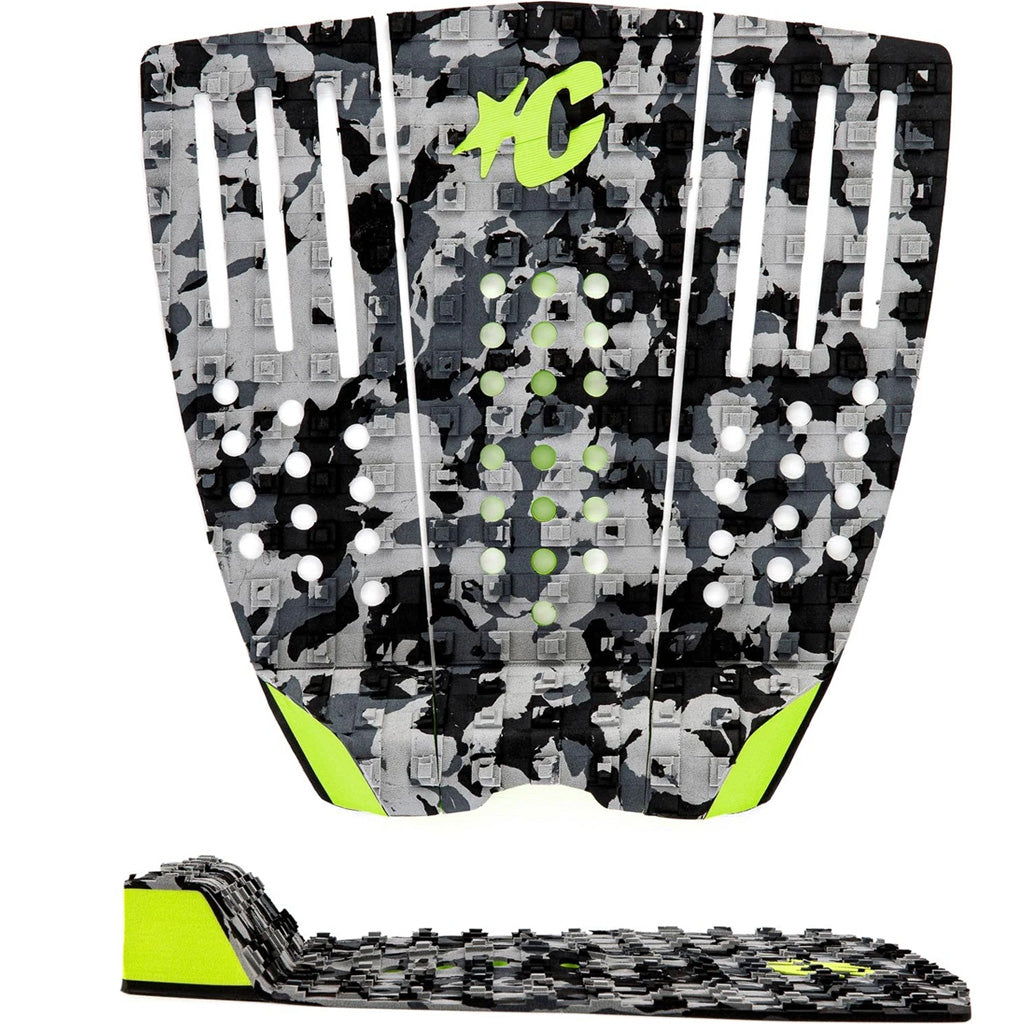 Creatures Reliance III Traction Pad - Charcoal Camo Lime - Seaside Surf Shop