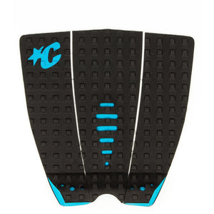 "Creatures Mick ""Eugene"" Fanning Lite Traction Pad - Black/Cyan"