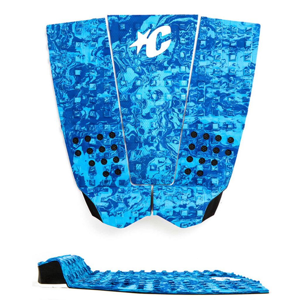 Creatures of Leisure ItaloFerreira Lite Traction Pad - Cyan Royal Swirl Black - Seaside Surf Shop