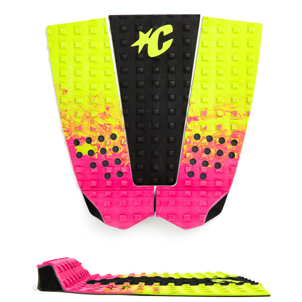 Creatures of Leisure ItaloFerreira Lite Traction Pad - Pink Fade Lime Black - Seaside Surf Shop