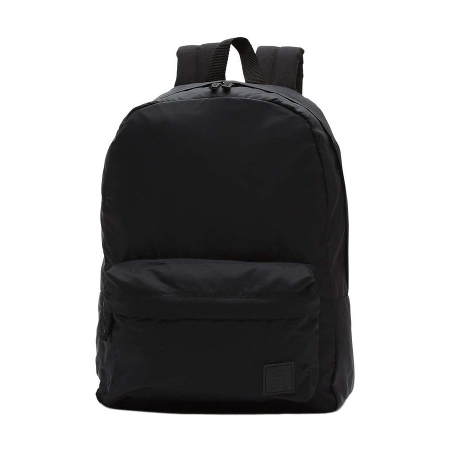 Vans Chambers Deana III Backpack - Black, Backpacks & Bags, Vans, Street Packs, Vans The Deana III Backpack is a 100% polyester two-pocket backpack featuring novelty yarn dye fabric, debossed lining at the interior back panel, and front pocket organization. Measuring 16.75 H x 12.75 W x 5 D, it has a 22-liter capacity.