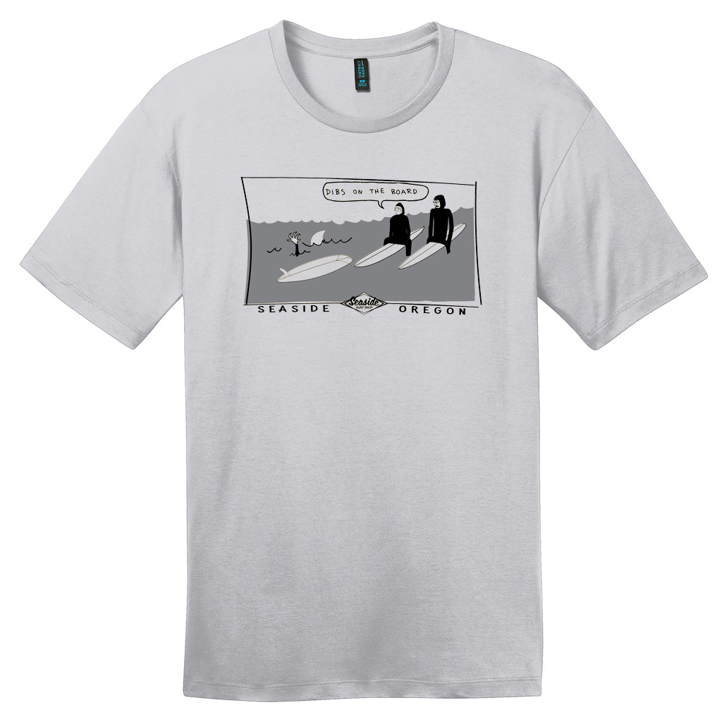 Seaside Surf Shop Mens Dibs Tee - Silver - Seaside Surf Shop