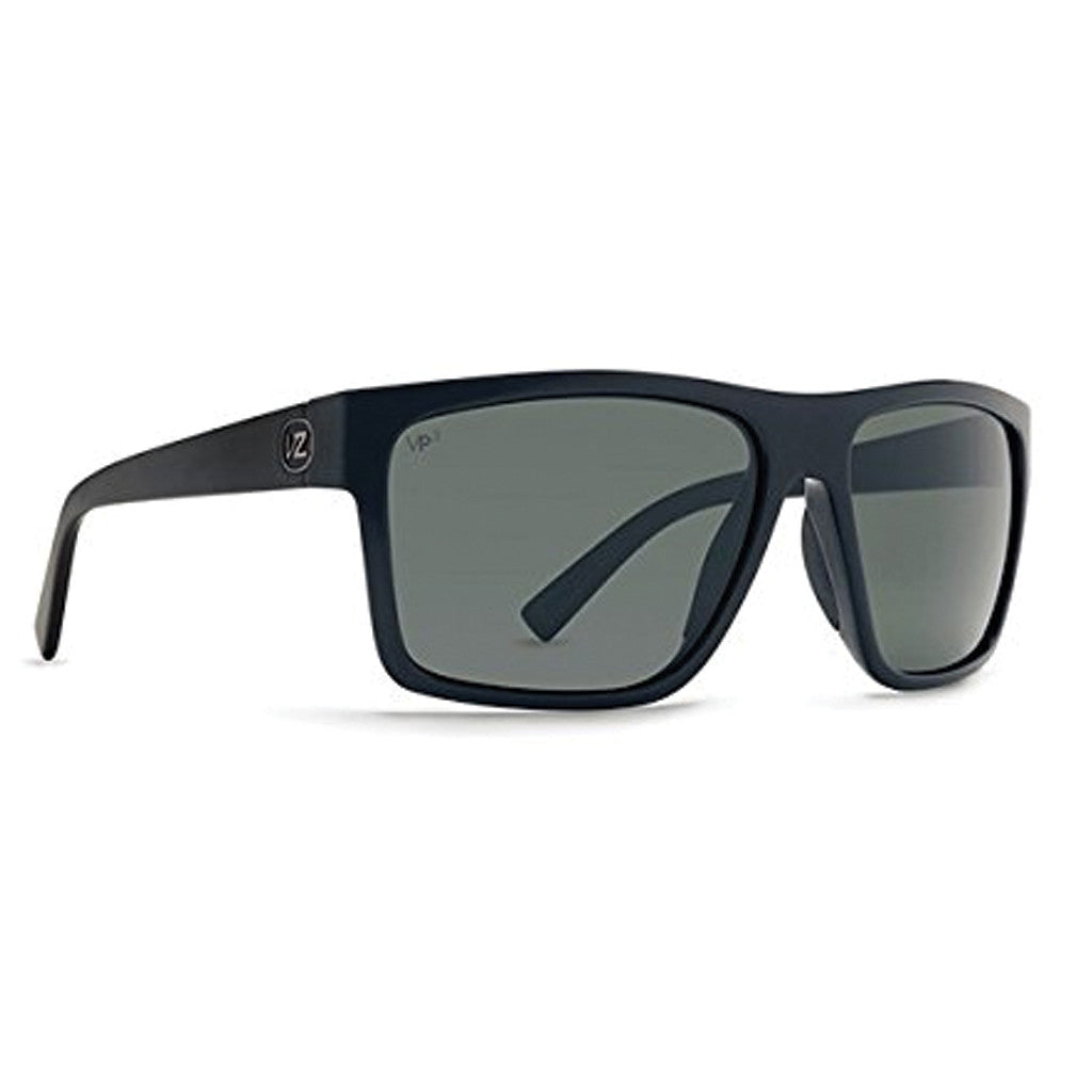 -Sunglasses-Von Zipper Dipstick - Black Gloss/Grey Polarized-Von Zipper-Seaside Surf Shop