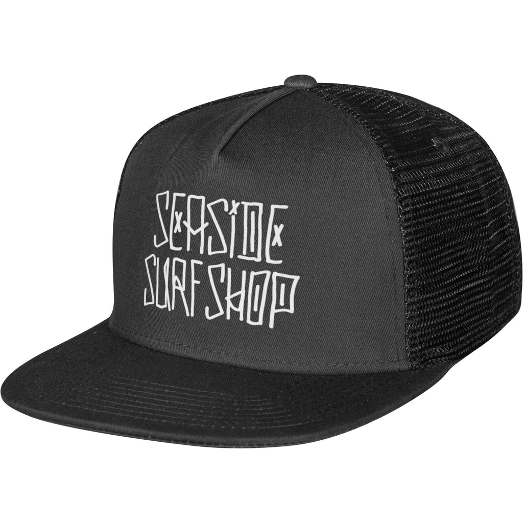 -Seaside Surf Apparel-Seaside Surf Shop Dog Days Hat - Black-Seaside Surf Shop-Seaside Surf Shop