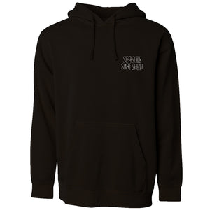 Seaside Surf Shop Mens Dog Days Hoody - Black, Apparel, Seaside Surf Shop , Mens Pullovers, Seaside Surf Shop Dog Days Hoody. Full circle throwback to the glory days of skating hard and surfing harder. Ode to the classics this hoody inspires the shred in all of us.
