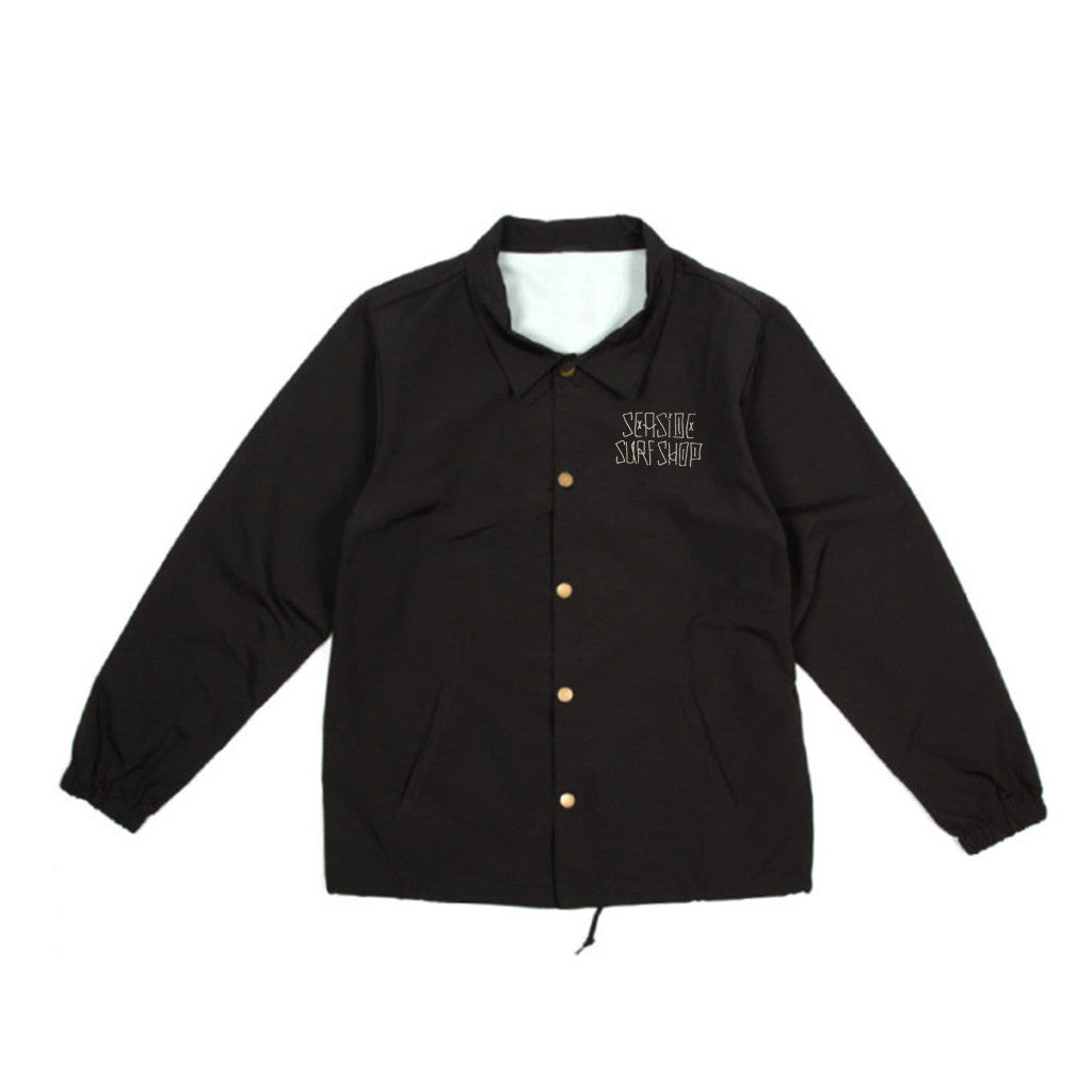 '-Seaside Surf Apparel-Seaside Surf Shop Mens Dog Days Coaches Jacket - Black-Seaside Surf Shop-Seaside Surf Shop