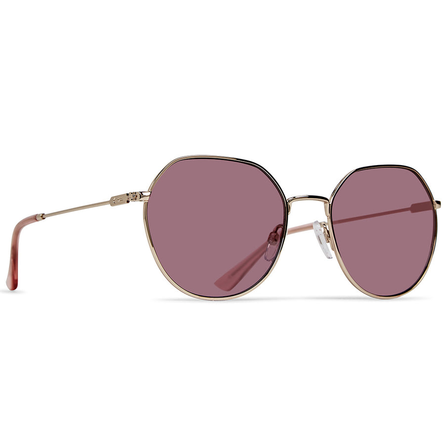 Dot Dash Sunglesses - Jitters - Rose Gold/Rose, Sunglasses, Dot Dash, Dot Dash, Dont get the jitters, wear em. Tell em you own it. Styling Metal frames and hinge.