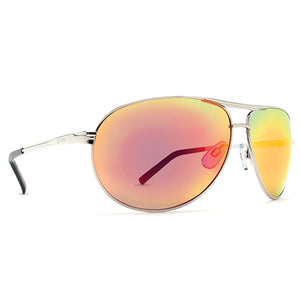 Dot Dash Sunglesses - Buford T - Silver/Chrome, Sunglasses, Dot Dash, Dot Dash, Raise your goblet of rock; it'll blow your back teeth out. Specs 100% UV 400 Protection Base-8 Polycarbonate Lens Metal Frame 3 Barrel Metal Hinge