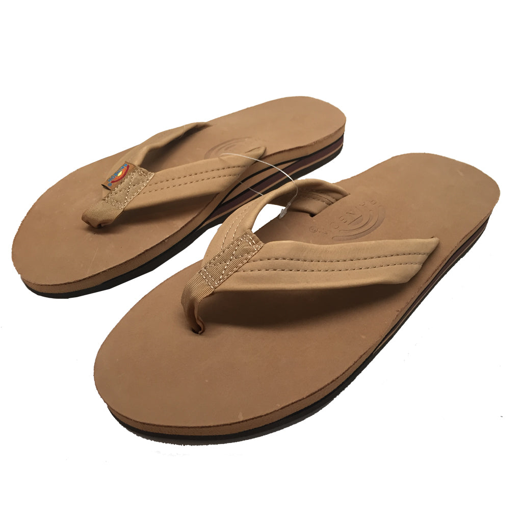 f64357089 Rainbow Sandals Mens Premiere Leather Double Arch - Sierra Brown-Rainbow  Sandals-Seaside Surf