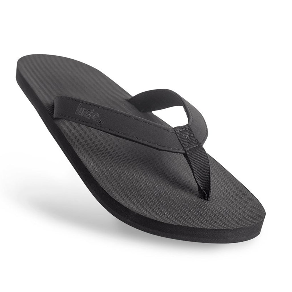 Indosole - Mens  ESSNTLS Flip Flops - Black - Seaside Surf Shop