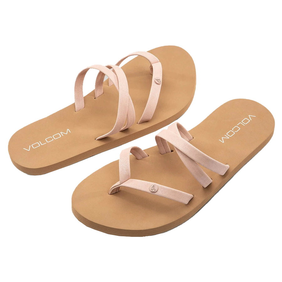 Volcom Little Girls Volcom Easy Breezy Sandals - Light Peach