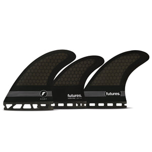 Futures Fins - F8 Honeycomb 5 Fin Set - Smoke/Black/White-Futures Fins-Seaside Surf Shop