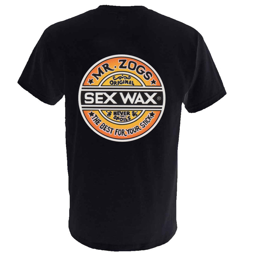 Sex Wax Mens Fade Tee - Black-Zogs Sex Wax-Seaside Surf Shop