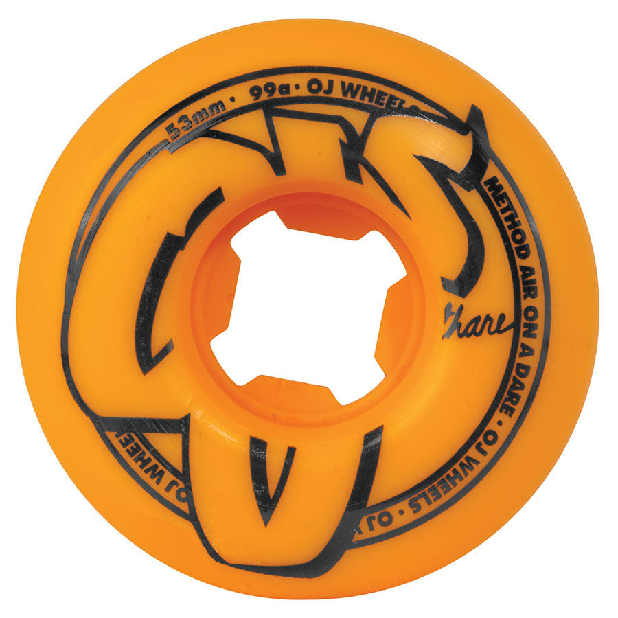 OJ Logo Family 53mm Orange 99a Wheels - Seaside Surf Shop