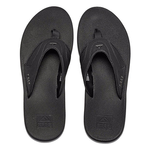 -Footwear-Reef Mens Fanning - Black-Reef-Seaside Surf Shop