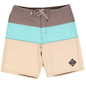 "Salty Crew Mens Fathom Boardshort - Seafoam, Swimwear, Salty Crew, Mens Boardshorts, Salty Crew Mens Fathom Boardshort - Seafoam19"" solid contrast panelled break up51% cotton, 43% poly"