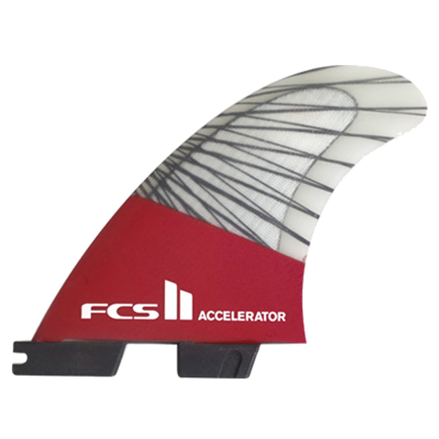 FCS II Accelerator PC Carbon Large Tri Set Fins - Red Mood-FCS-Seaside Surf Shop