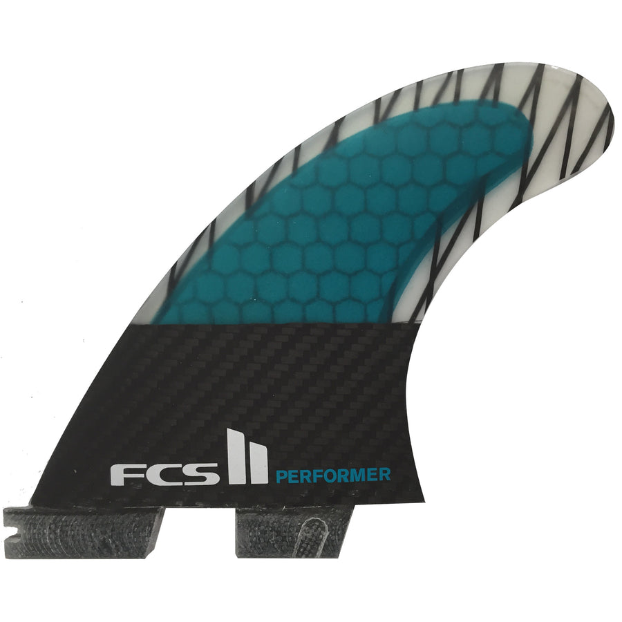 FCS II Performer PC Carbon Medium Tri Retail Fins-FCS-Seaside Surf Shop