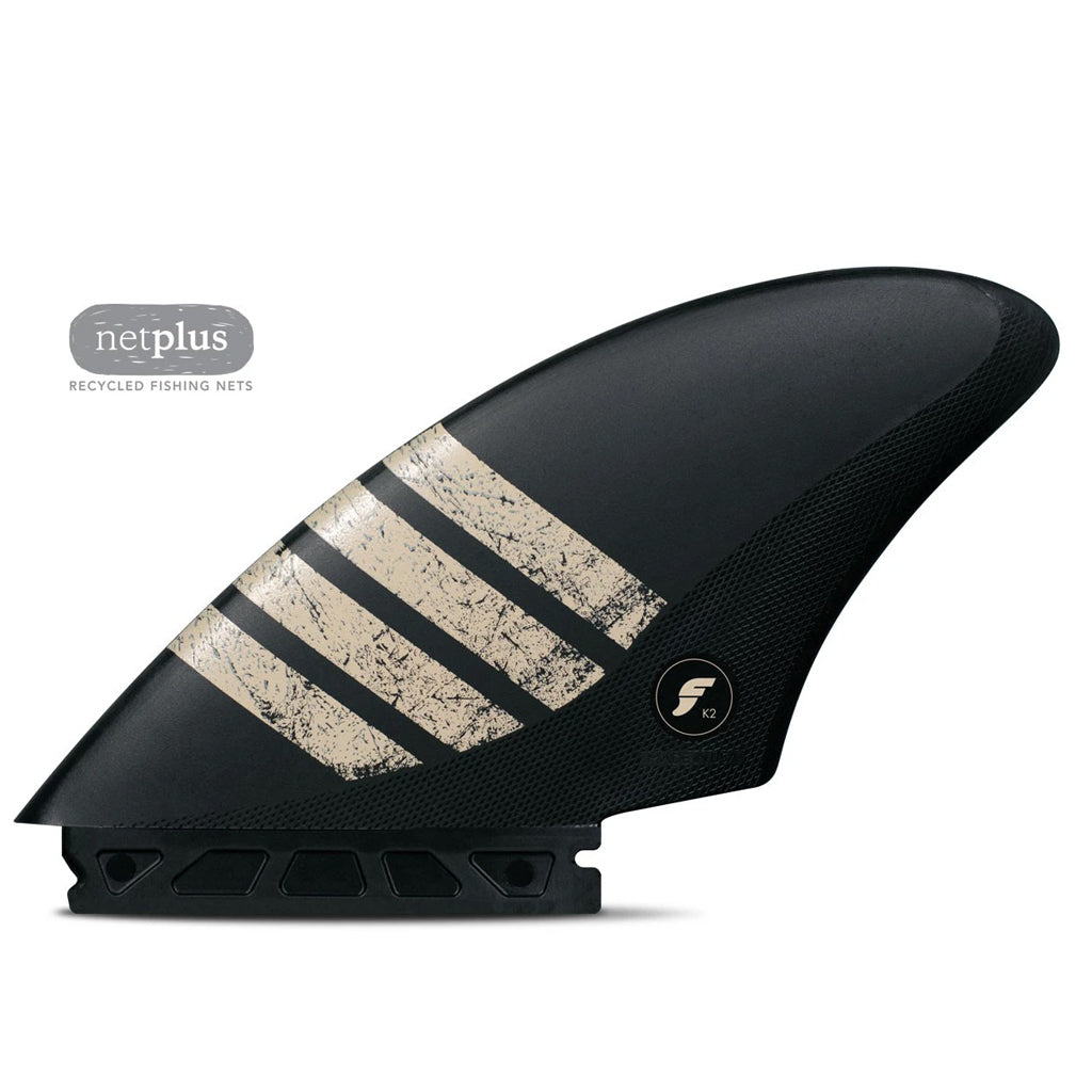 Futures Fins - Alpha K2 Keel Twin Fin - Carbon/Sand - Seaside Surf Shop