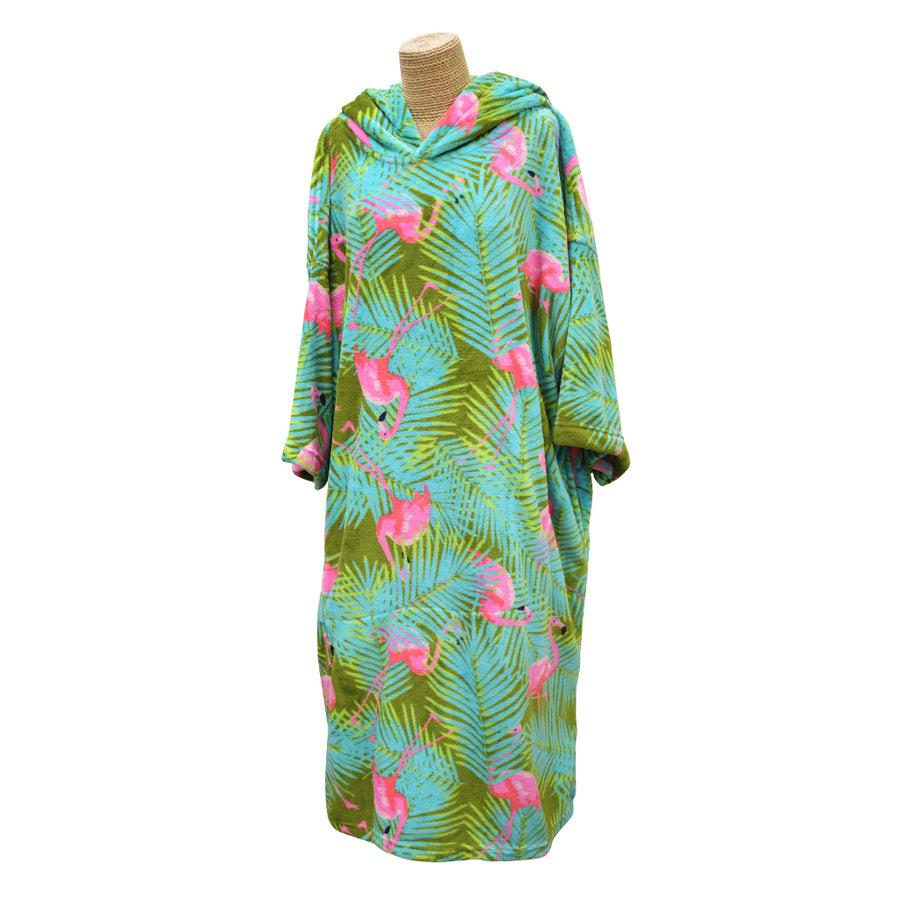 Blocksurf Microfleece Wetsuit Changing Robe - Flamingo
