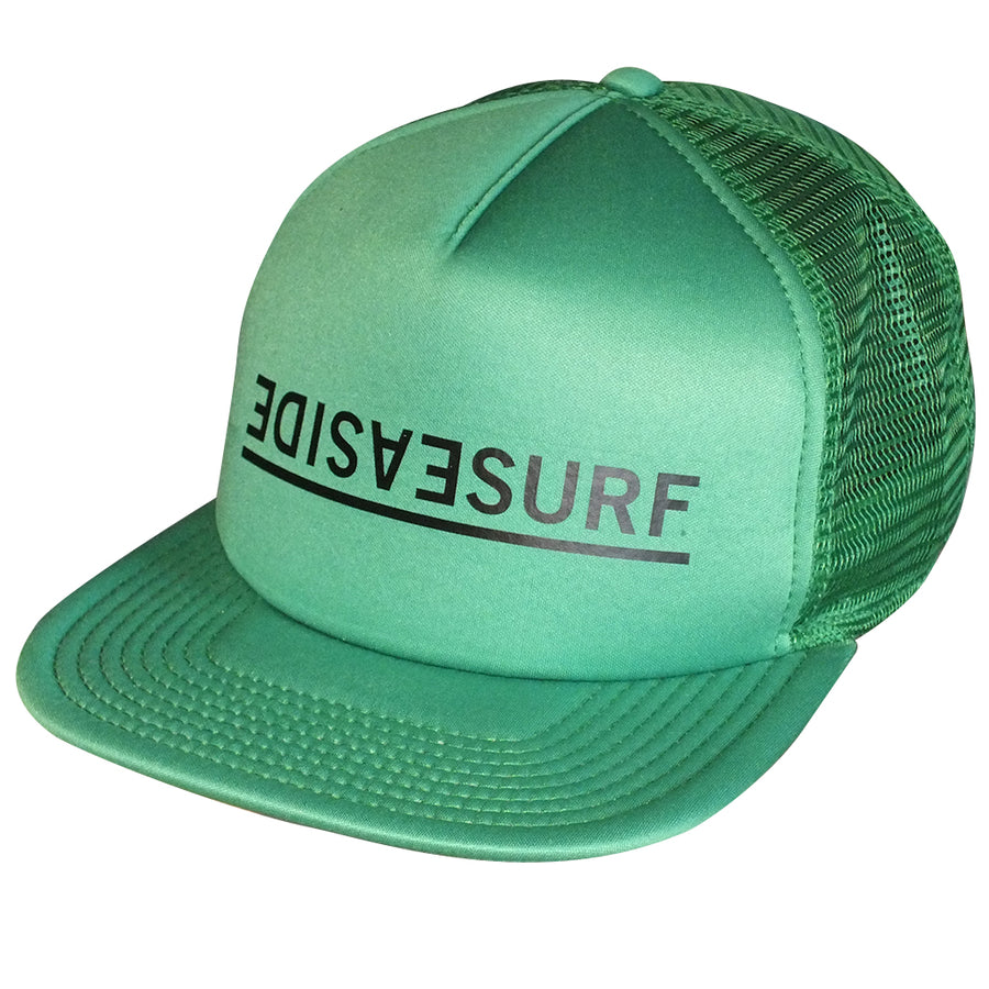 Seaside Surf Shop Invert Trucker Cap - Green