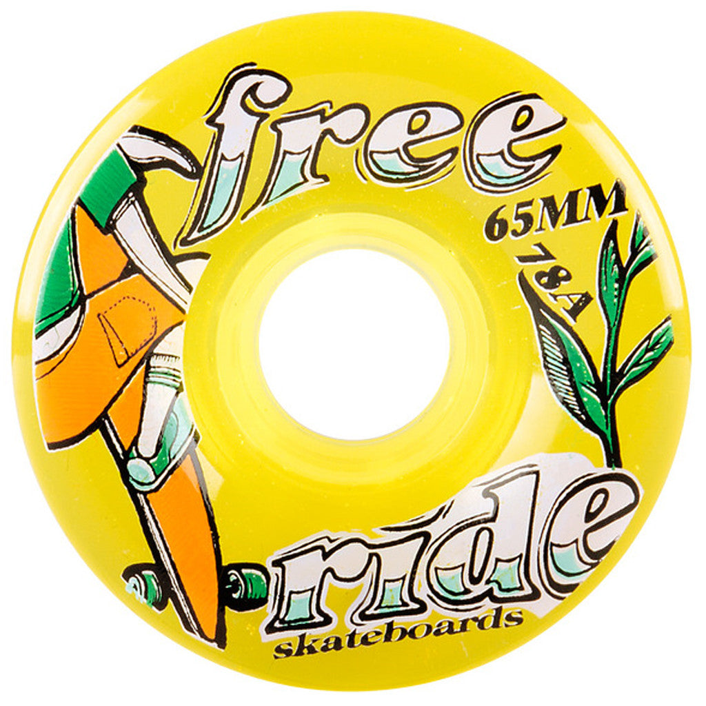 -Skate-Freeride Skateboards 65mm Freeride Wheels - Yellow-Freeride Skateboards-Seaside Surf Shop
