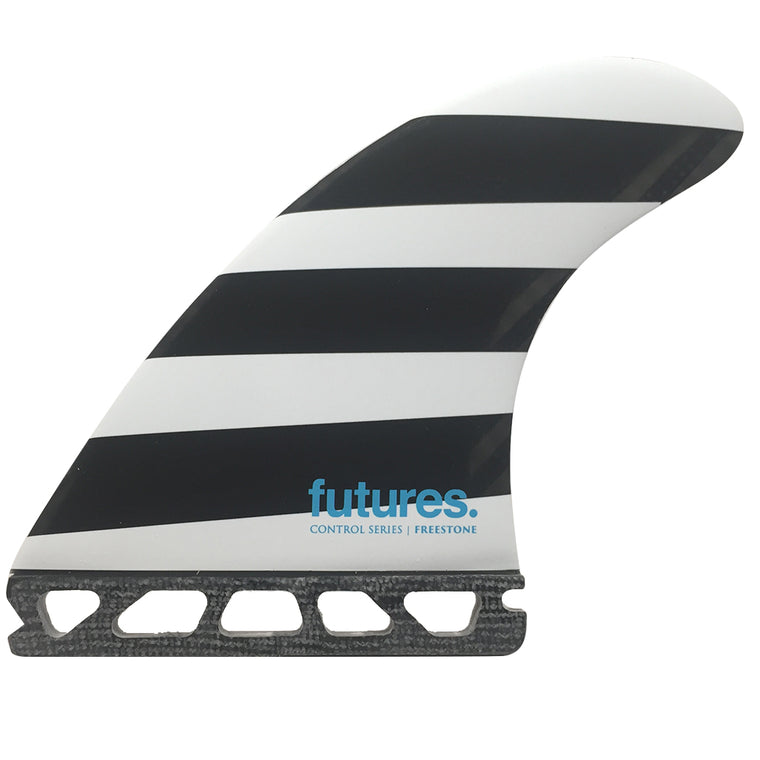 -Surf Accessories-Futures Fins - Freestone Control Series (L) - Polka/Stripes-Futures Fins-Seaside Surf Shop