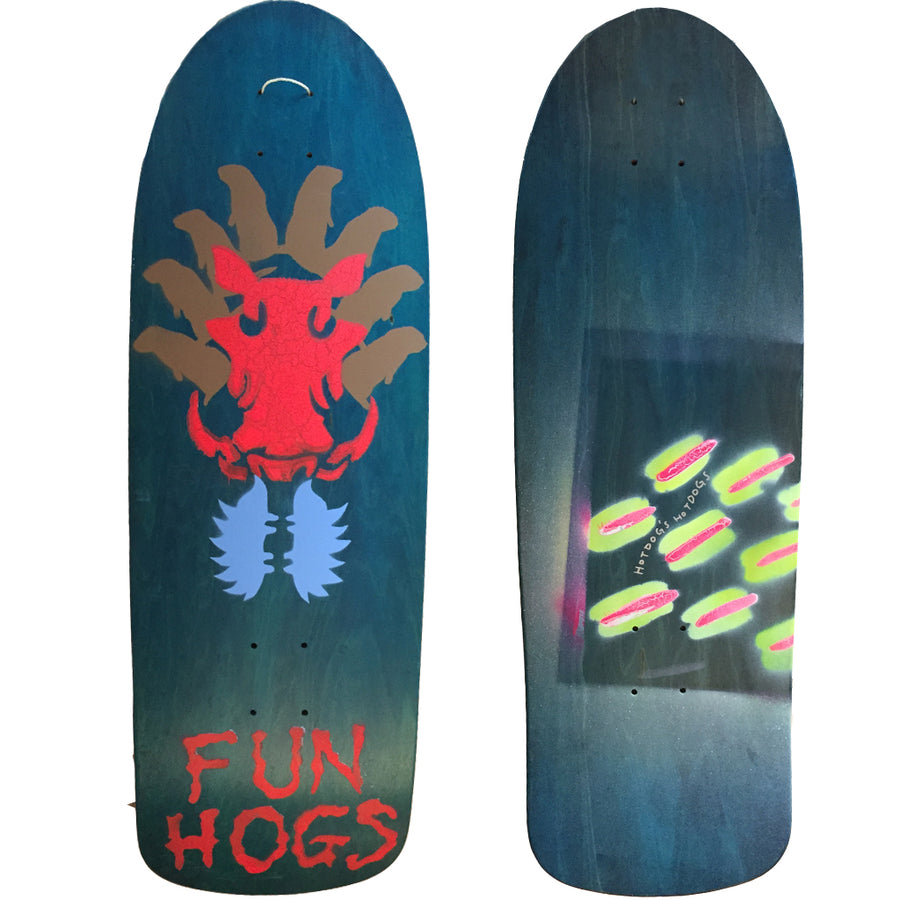 Hot Dog Skateboards Fun Hogs - Teal/Artwork