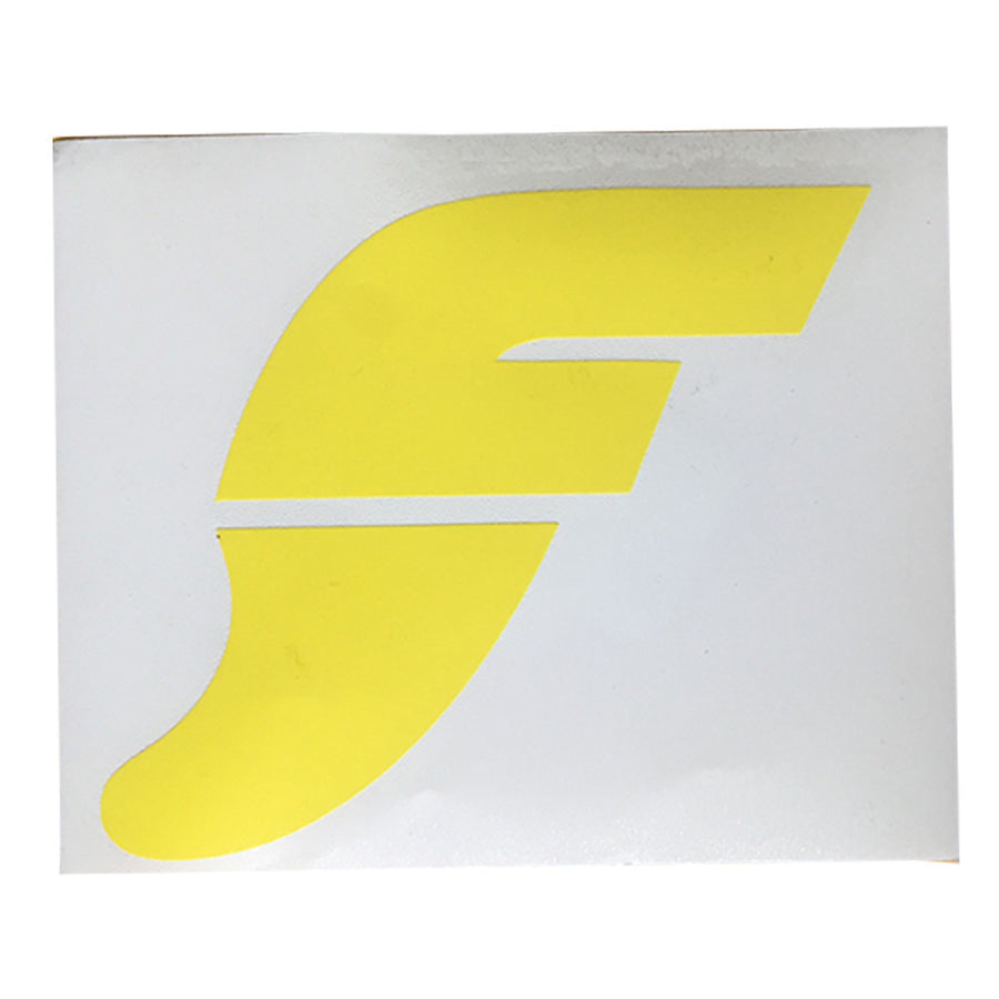 "Futures F Logo Sticker -4x4"" - Yellow, Stickers, Futures Fins, Futures Fins, Classic Futures Fins F Key Logo screeed in Yellow-Approx 4x4"""
